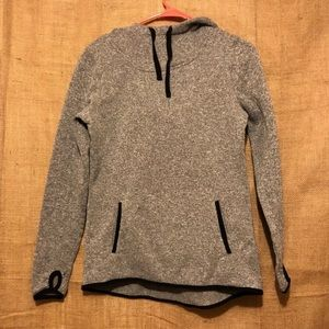 Danskin Now Hoodie SZ S Thumb Holes Gray Jacket